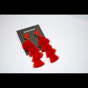 Baublebar Red Fringe Earrings